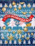 De decoratie van nieuwjaarkerstmis Eps 10 Stock Afbeelding