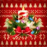De decoratie van nieuwjaarkerstmis Eps 10 Stock Fotografie