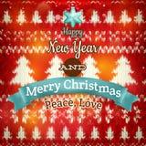 De decoratie van nieuwjaarkerstmis Eps 10 Royalty-vrije Stock Foto