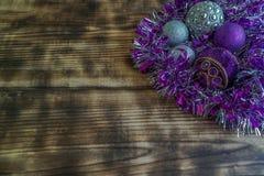 De decoratie van Pasen en van het Nieuwjaar ` s voor Kerstboom stock fotografie