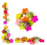 De decoratie van Plactic in vorm van bloemen Stock Foto's