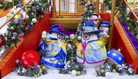 De decoratie van sneeuwmankerstmis Royalty-vrije Stock Foto