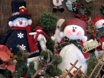 De decoratie van sneeuwmannen Royalty-vrije Stock Afbeeldingen