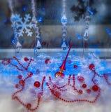 De decoratie van vakantiekerstmis, behang Rasfokus Stock Fotografie