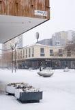 De decoratie van Vallingbykerstmis in sneeuw Royalty-vrije Stock Afbeeldingen