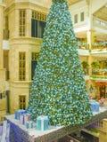 De decoratie van winkelcomplexkerstmis royalty-vrije stock foto