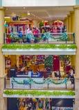 De decoratie van winkelcomplexkerstmis royalty-vrije stock foto's