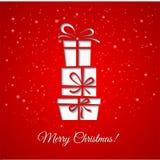 De decoratieachtergrond van de Kerstmisgift Stock Afbeelding