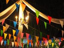 De decoratieachtergrond van de nachtpartij royalty-vrije stock fotografie