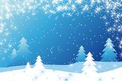 De decoratieachtergrond van de winter royalty-vrije illustratie