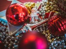 De decoratieachtergrond van Kerstmis stock foto's