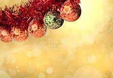 De decoratieachtergrond van Kerstmis Royalty-vrije Stock Foto's