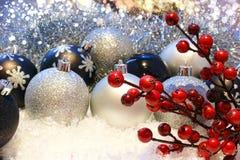 De decoratieachtergrond van Kerstmis Royalty-vrije Stock Fotografie