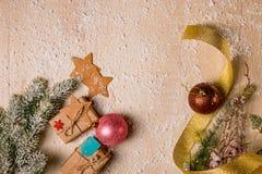 De decoratieachtergrond van Kerstmis Royalty-vrije Stock Afbeeldingen