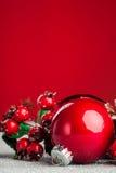 De decoratiebal van Kerstmis Stock Afbeeldingen