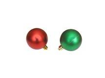 De decoratieballen van Kerstmis Royalty-vrije Stock Afbeeldingen