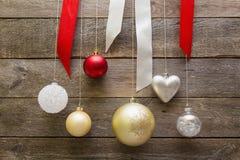 De decoratieballen van Kerstmis Stock Afbeelding