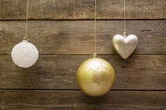 De decoratieballen van Kerstmis Royalty-vrije Stock Afbeelding