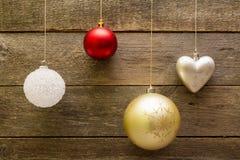 De decoratieballen van Kerstmis Stock Foto