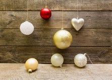 De decoratieballen van Kerstmis Stock Fotografie