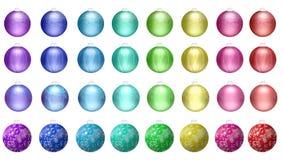 De decoratieballen van Kerstmis Stock Foto's