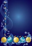 De decoratieblauw van Kerstmis Stock Foto's