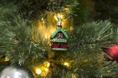 De decoratieclose-up van de Kerstmiskeet Royalty-vrije Stock Foto's