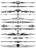 De decoratieelementen van het ontwerp en van de pagina Royalty-vrije Illustratie