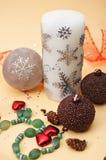 De decoratieelementen van Kerstmis Royalty-vrije Stock Foto
