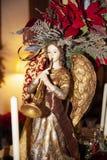 De decoratieengel van Kerstmis stock afbeelding