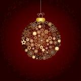 De decoratiegoud van Kerstmis en bruin Royalty-vrije Stock Foto's