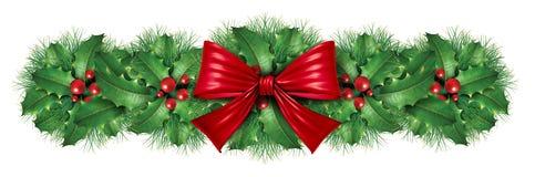 De decoratiegrens van Kerstmis Stock Fotografie