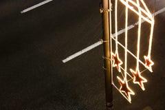 De decoratielicht van de Kerstmisstraat Stock Afbeeldingen