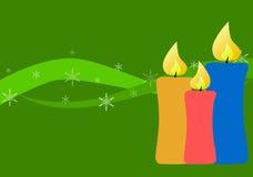 De decoratieontwerp van de kerstkaart Stock Afbeeldingen