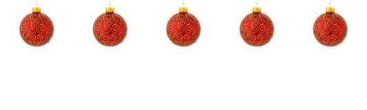 De decoratierood van Kerstmis stock foto's