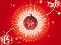 De decoratierood van Kerstmis Stock Foto
