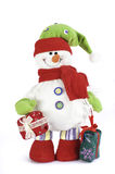De decoratiesneeuwman van Kerstmis Stock Afbeeldingen