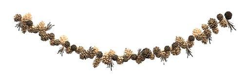 De decoratiesparappel van Kerstmis op een kabel Stock Foto