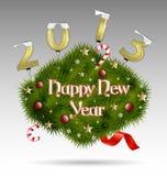 De decoratieve achtergrond van het nieuwjaar Stock Afbeeldingen