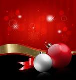 De decoratieve achtergrond van Kerstmis Stock Afbeeldingen