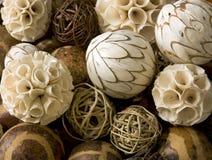 De decoratieve Afrikaanse achtergrond van Kerstmisballen Stock Afbeelding
