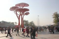 De decoratieve architectuur in shenzhen het plein van de vreugdekust Stock Foto's
