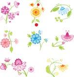 De decoratieve bloemen van de kleur royalty-vrije illustratie