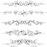 De decoratieve bloemenelementen van de werveling stock illustratie