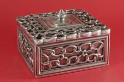 De decoratieve Doos van Juwelen met Deksel Stock Afbeelding