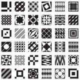 De decoratieve elementen, kunnen als naadloze patronen worden gebruikt Stock Foto