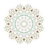 De decoratieve elementen van bloemmandala vintage vector illustrationIn Stock Fotografie