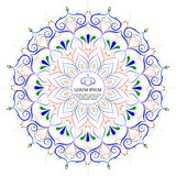De decoratieve elementen van bloemmandala vintage vector illustrationIn Royalty-vrije Stock Foto
