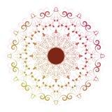 De decoratieve elementen van bloemmandala vintage vector illustrationIn Royalty-vrije Stock Afbeelding