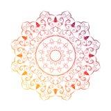 De decoratieve elementen van bloemmandala vintage vector illustrationIn Royalty-vrije Stock Afbeeldingen